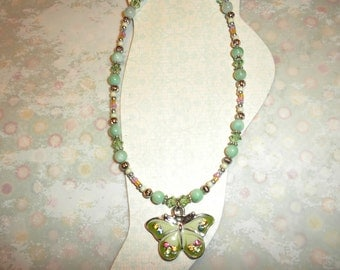 Beautiful Green Swarovski Butterfly Ankle Bracelet