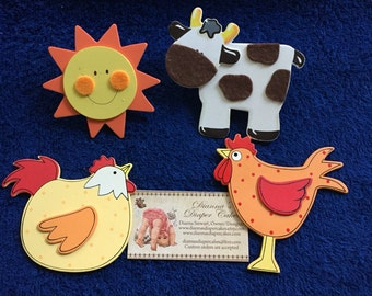 Country Animals Plug Outlet Socket Covers Baby and Kids Room Decorations