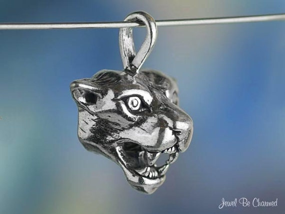 Sterling Silver Cougar CHARM or PENDANT Animal or Mascot Solid .925