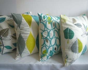 "4 x 20"" Teal Blue Green Gray Pillow Big Cushion Covers Designer Throws Slips Accent, Euro Shams"