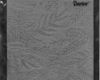 Darice Embossing Folder  --  New  -- Green Sprig Berries --  (#1792)