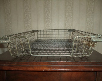 Vintage Wire Paper Tray