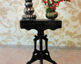 Handmade Dollhouse Table with Accessories In 1:24 Half Scale by FatCatDesigns