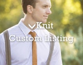 Custom Order for Oliver: x2 knit neckties Aqua blue / Teal  -pointed end