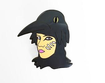 Suzy Bishop Pin - Moonrise Kindom I'm a Raven - Illustrated Enamel Pin