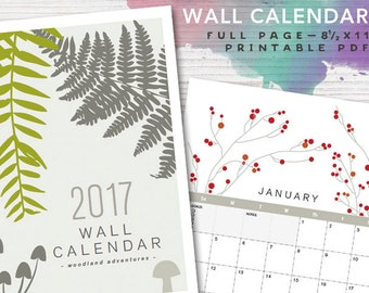 2017 PRINTABLE Nature Wall Calendar