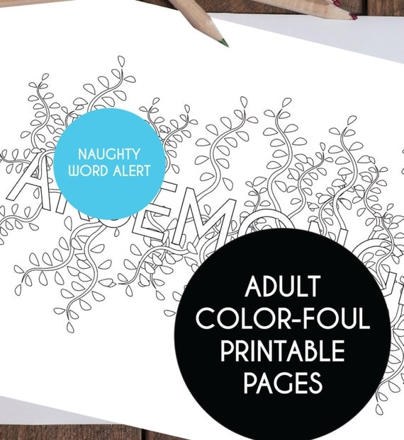 Printable Adult Coloring Pages Swear Word By TheLittlePiper