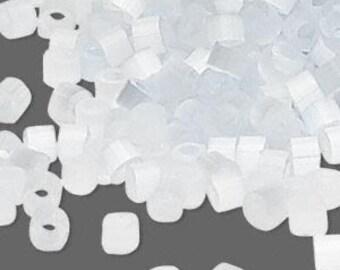 Miyuki Delica #677 Silk Light Grey 11/0 in 1, 5 or 10 gram package