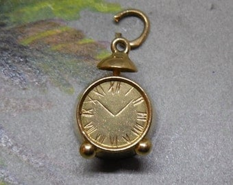 14k Gold Alarm Clock Bracelet Charm    MCD25