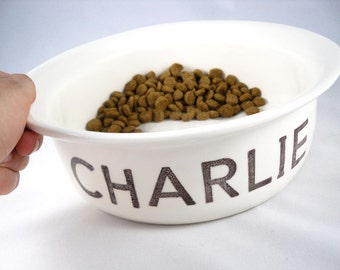 CUSTOM PET NAME personalized dog food bowl custom cat water dish personalized pet feeder ceramic dog water bowl cat bowl valentine for pet