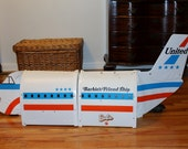 Barbie Friend Ship Mattel foldout airplane interior United Airlines 1970's