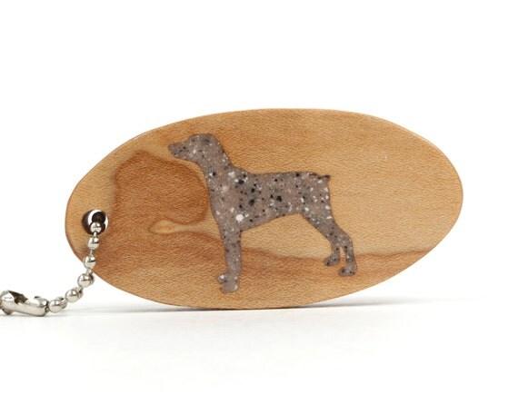 CLEARANCE: Dobermann Key Chain Wood Scroll Saw Dog Breed Key Ring Wooden Pet Fob Dobermann Accessories Dog Key Chain Brown Granite