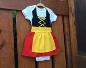 Baby girl dirndl in German colors
