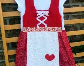 Toddler sized German dirndl dress (baby dirndl toddler dirndl Oktoberfest dirndl)