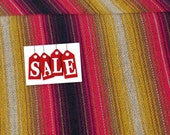 Guatemalan Fabric in Rich Gold and Red - Acrylic
