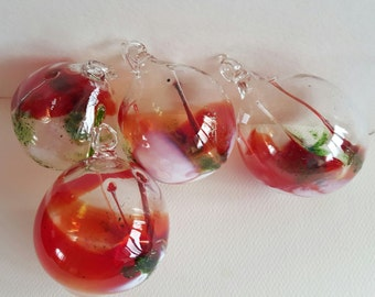 Red , Amber and other Spirit Ball,  Witch Ball. Red Witches Ball, Red Bal FREE Shippingl