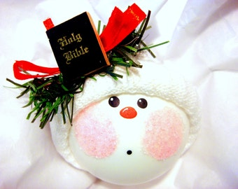 BIBLE CHRISTMAS Ornaments Hand Painted Handmade Personalized Themed by Townsend Custom Gifts - BackRoom