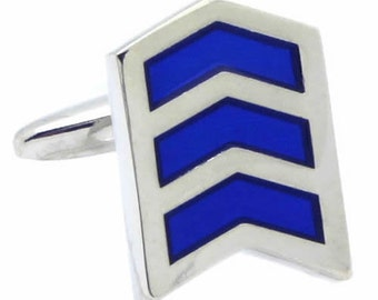 Blue Arrow Line Cufflinks