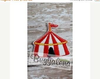 ON SALE Circus Tent Feltie Embroidery Design