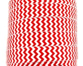 Red Chevron Fold Over Elastic - Fold Over Elastic, Hair Elastic Bracelet, Elastic, Hair Elastic Ties, Elastic Ribbon, Elastic Hair Bands