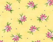 Michael Miller - Delightful - Playful Posies in Sunny - Swirly Girls- cotton quilting fabric - BTY