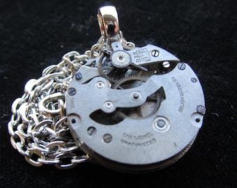 Steampunk Watch Movement Necklace Pendant A 3