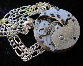 Steampunk The Windsor Pocket Watch Movement Necklace A 43