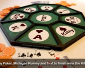 Handmade Tripoley Card Board game (includes: Casino Playing Cards & Bicycle Jumbo)