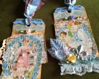 Gift tags fancy vintage style bag tag