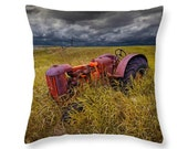 Abandoned Farm Tractor on the Prairie in North Dakota No.0112 decorative novelty Throw Pillow Home Décor cushion cover