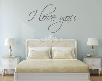 I love you - I love you Sign - I love you wall decal - mirror decal - gift for her - gift for women - bedroom wall decal - bedroom decor