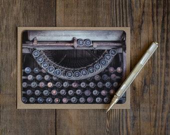 Happy Birthday Blank Note Cards - Typewriter Key - set of 10