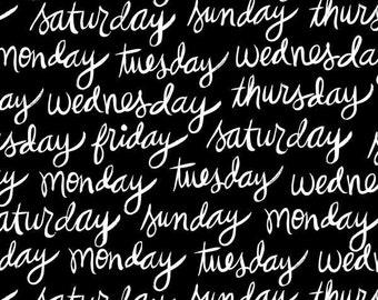 8 Days a Week by Ampersand Design Studio - Days of the Week (37461-2) - 1 Yard