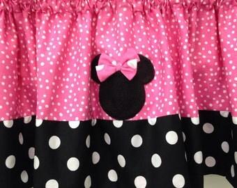 Minnie mouse valance