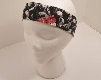 FREE SHIPPING --- Headband - Adult/Teen Size - Walking Dead Zombie