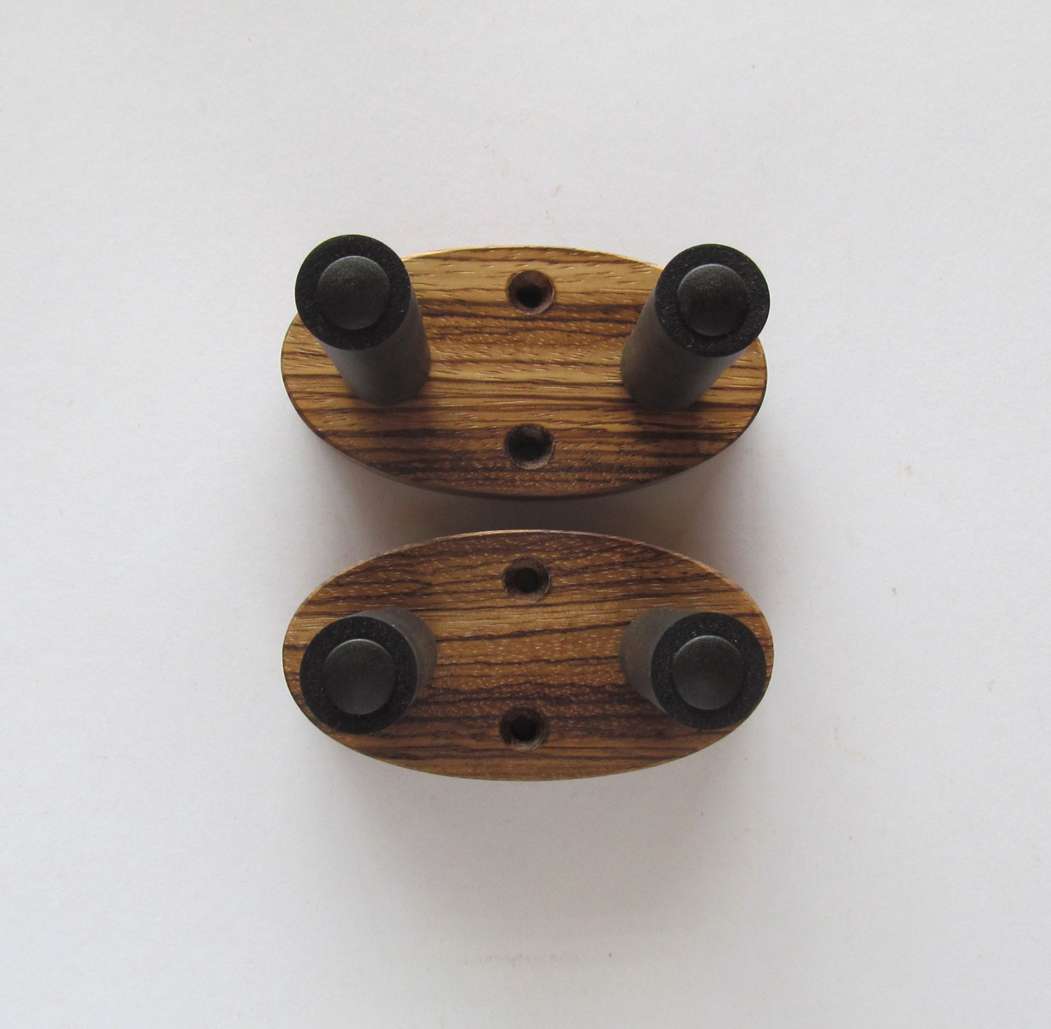zebrawood ukulele wall mount hangers natural finish two pack. Black Bedroom Furniture Sets. Home Design Ideas