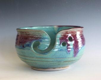 Large Yarn Bowl, knitting bowl, handmade ceramic yarn bowl, gift ideas, ceramics, READY TO SHIP