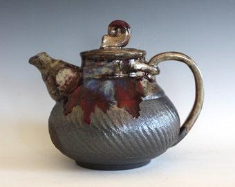 Handmade Teapot, Ceramic Teapot, Handmade Stoneware Teapot, ceramics and pottery, pottery teapot, wheel thrown teapot by Kazem Arshi