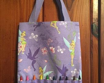 Tinkerbell coloring crayon bag