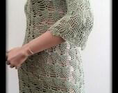 Summer crochet dress, kaki color. Hand made