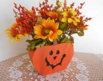 FALL, FLORAL, Halloween, Thanksgiving, Pumpkin, Jackolantern, Table Centerpiece, Floral Design