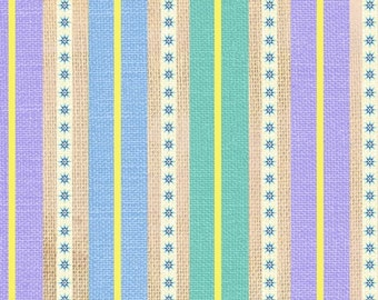 Happy Camper by StudioE Stripes-Purple 1/2 Yard, Free Shipping 3125-15