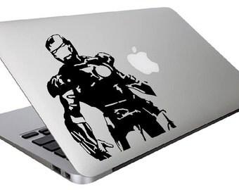 Iron man Macbook decal, Marvel Macbook decal, mac book decal, customized laptop-iron man superhero