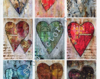 INSTANT DOWNLOAD ATC starters hearts digital page