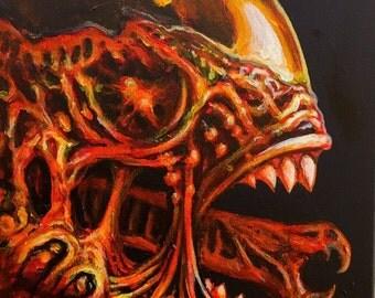 Alien xenomorph painting