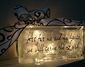 As for me and my house, we will serve the Lord Entry Light Night Light Made with Vinyl Lettering