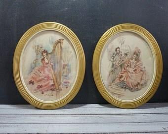 Pair Watercolor Portrait Prints