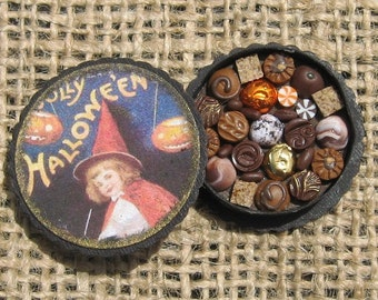Halloween Miniature Box of Chocolates 12th Scale