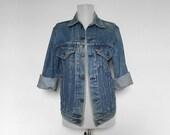 SHOP SALE! Vintage Levi's Jacket / Denim / Unisex / Spring / Summer / Blue Jean / Essential