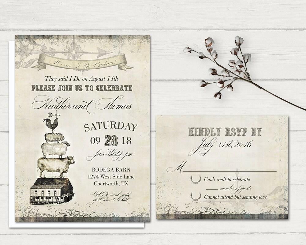 Reception Only Wedding Invitations: I Do BBQ Wedding Reception Only Invitation By NotedOccasions